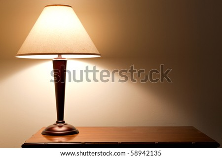 old fashion table lamp - stock photo
