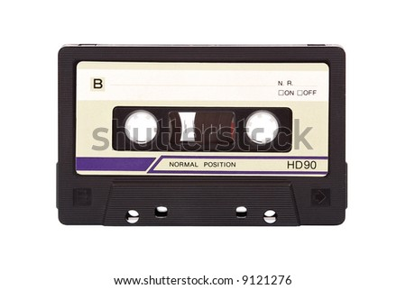 Old-fashioned audio compact cassette - with clipping path!