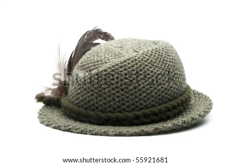 old-fashioned bavarian man's hat