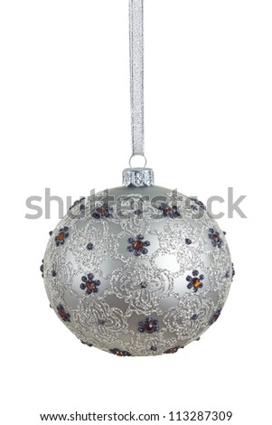 old fashioned, beautiful christmas ball with precise CLIPPING PATH