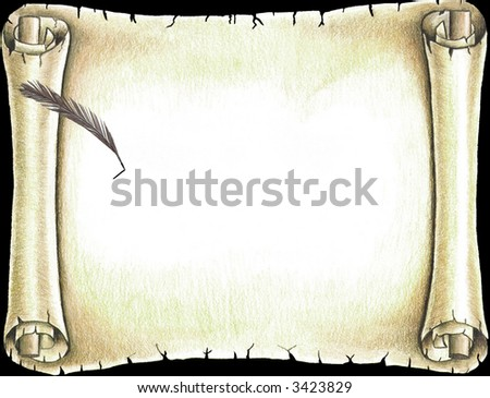 Scroll template faceboul old fashioned scroll template old fashioned blank parchment scroll toneelgroepblik Gallery