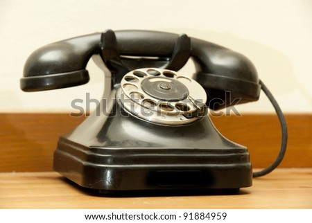old-fashioned classic telephone