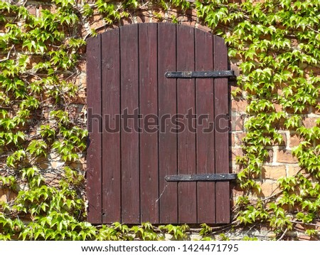 Old fashioned door of an shanty, known from Grandmas house, where we played, when we was children.