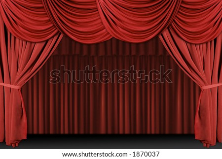 theater curtain clip art. elegant theater stage with