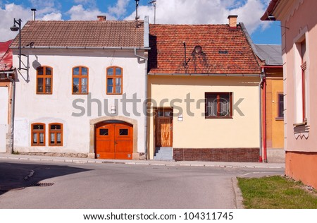 Old-fashioned houses in eastern Slovakia