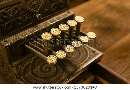 Old-Fashioned, Mechanical, Store Cash Register