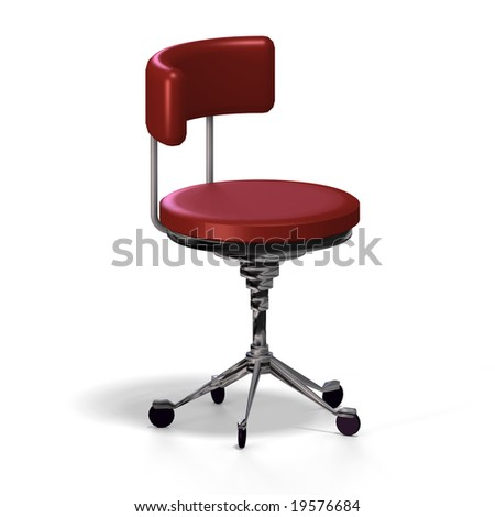 Old fashioned office chair or from medical practise with clipping path stock photo 19576684