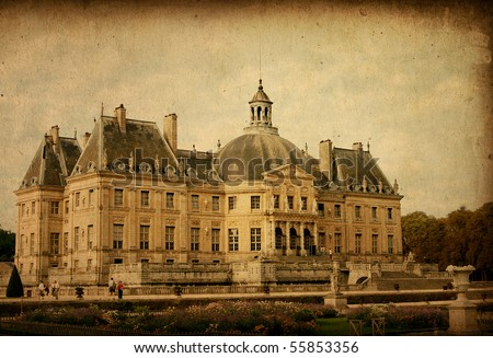 old-fashioned paris france - stock photo