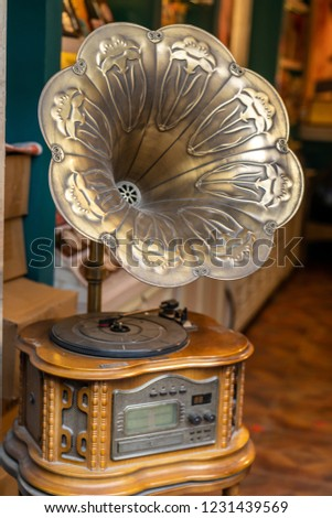 Old fashioned phonograph #1231439569