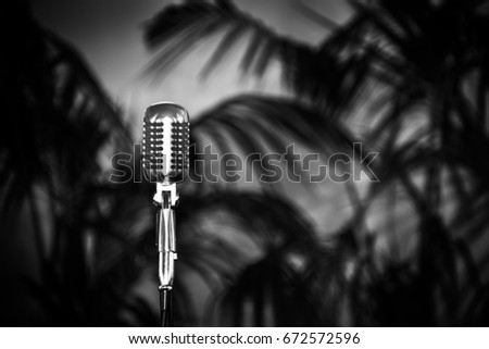 old fashioned retro microphone...