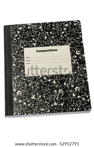 stock photo : old-fashioned school composition book