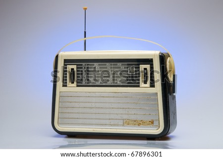 Old-fashioned soviet personal radio receiver. - stock photo