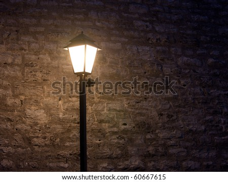 old fashioned street light