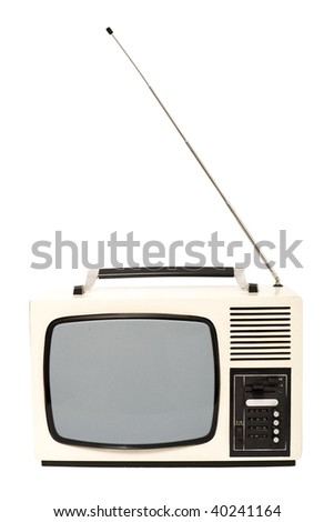 Old fashioned television set - isolated