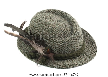 old-fashioned tirol man's hat