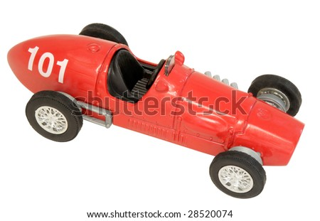 Auto Racing Photos on Old Fashioned Toy Racing Car Stock Photo 28520074   Shutterstock