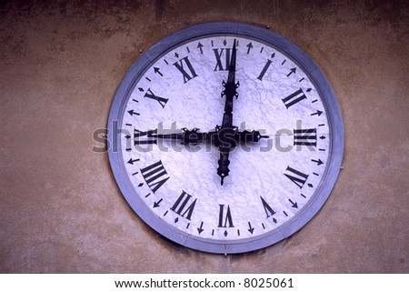 Old fashioned train station clock