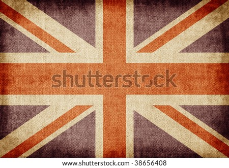 Old-fashioned UK flag #38656408