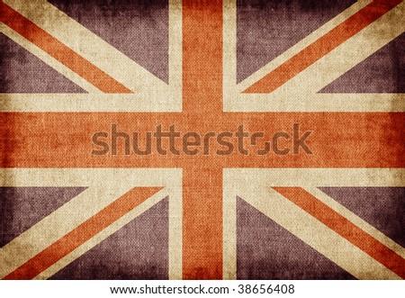 Old-fashioned UK flag #38656408