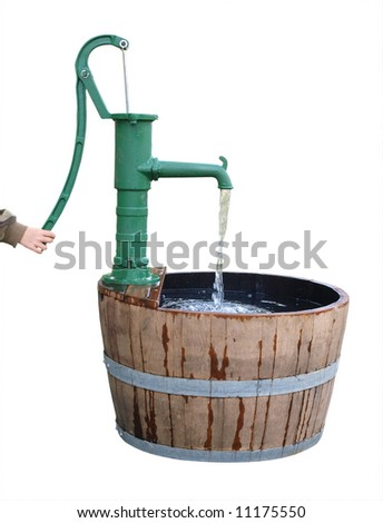 Old Fashioned Hand Water Pump http://www.shutterstock.com/pic-11175550/stock-photo-old-fashioned-water-pump-isolated-with-clipping-path.html