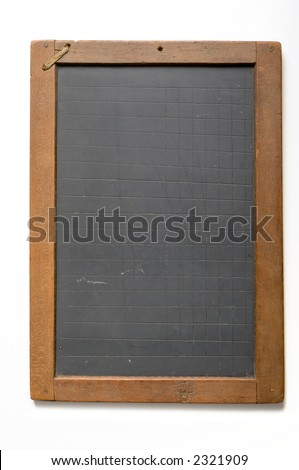 old fashioned writing slate...