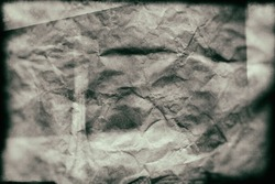 Old film overlay design on brown wrinkled paper for design in your work.