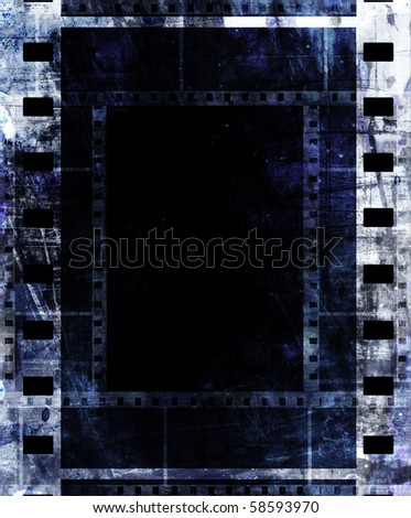 old film strip frame with some spots