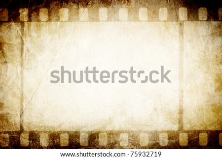 Old filmstrip. Classic vintage background. - stock photo