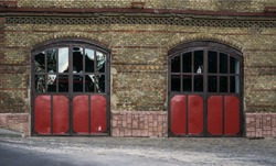 Old Fire department building gates