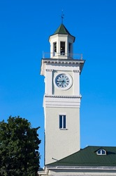 Old fire tower with clock
