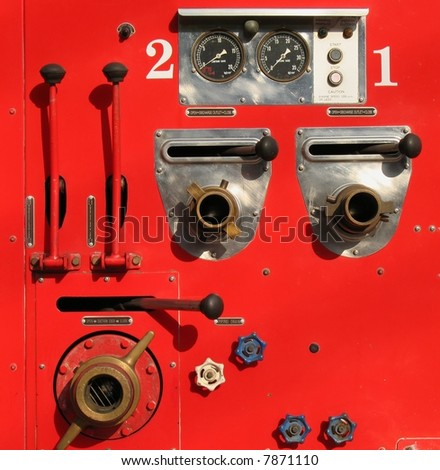 Old Fire Truck Detail -- shown here are the various controls and connections
