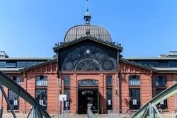 Old fish auction market in Hamburg, Germany