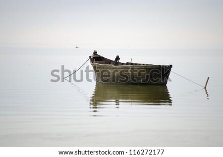 Old fisherman boat
