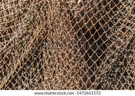 Old fishing nets. Abstarct background of nets, geometric pattern