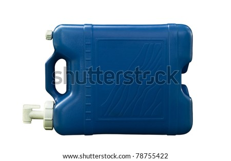 old five gallon water jug with clipping path at original size - stock photo