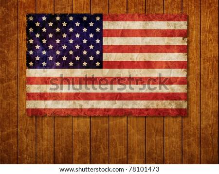 Old 1960 flag of USA on old wooden wall, USA flag for USA Independence Day, USA The Stars and Stripes flag, USA Old Glory flag, USA Star Spangled Banner flag
