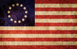 Old 1777 flag of USA, USA flag for USA Independence Day, USA Betsy Ross flag