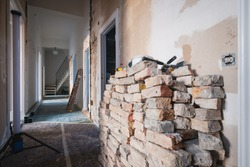 old flat during home renovation,  refurbishing apartment