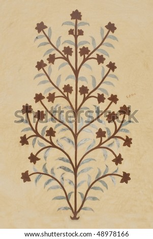 stock-photo-old-flower-painting-on-the-amber-fort-temple-wall-rajasthan-india-48978166.jpg