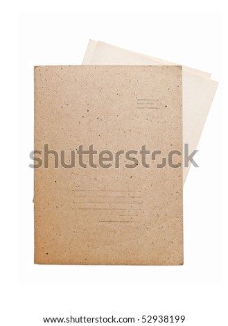 old folder for paper isolated
