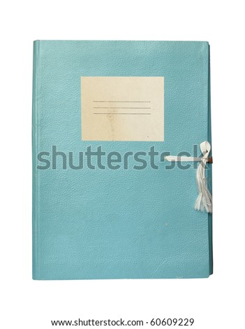 old folder with blank label isolated