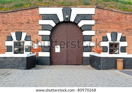 Old fort in Terezin, Czech Republic. In nowadays this is a part of memorial monument for the Jewish ghetto which Terezin was during the WWII.
