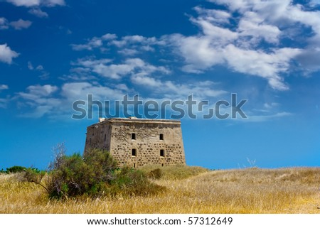 Old fort on Tabarca island in Spain