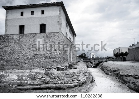 Old fortification in Amposta, Spain