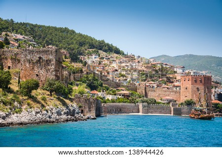 old fortress and sea in Alanya, Turkey