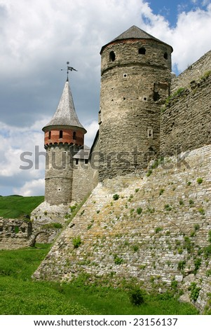 Old fortress in Kamyanets-Podolsky Ukraine - stock photo