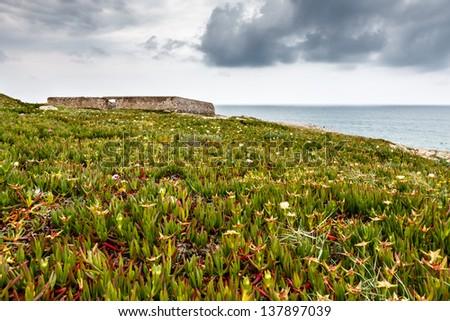 Old Fortress on Guincho Beach in Cascais near Lisbon, Portugal