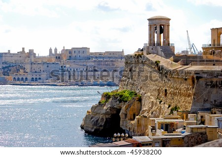 Old fortress on the seaside in malta