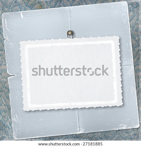 Old frame for congratulation or greeting on the abstract background