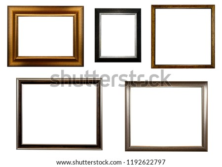 Old frames on white